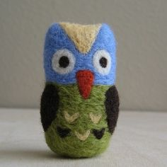 tiny felted owl