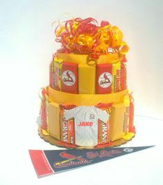 Candy bar cake for the st louis cardinals baseball fan more st louis