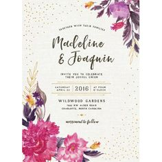 Romantic Bohemian Wedding Invitations by Jennie | Elli