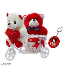 Checkout this latest Gift combos_0-500 Product Name: *Stylish Gift * Cycle with  2 taddy  red and white  material-Plastic  Size ( L x W x H )- 12 cm x 25 cm x 19 cm Country of Origin: India Easy Returns Available In Case Of Any Issue   Catalog Rating: ★4.1 (272)  Catalog Name: Stylish Gift Vol 7 CatalogID_753195 C127-SC1621 Code: 283-5107589-549