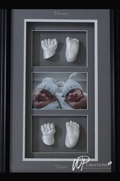 This Classic Triple Window Shadowbox is a great way to showcase your baby's beautiful lifecasts as well as a precious photo! Can be used for multiples as seen in the photo! Frame colour and layout options available. Gifts For New Moms, Gifts For Dad, Newborn Gifts, Baby Gifts, Love Gifts, Unique Gifts, Presents For Her, Baby Hands, Baby Keepsake