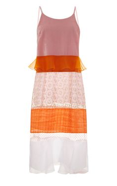 Shop Multi-Layer Paneled Midi Dress by Karla Špetic Now Available on Moda Operandi