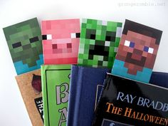 Printable Minecraft Bookmarks