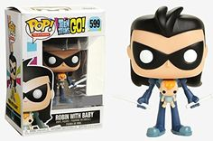 Funko Pop! Television Teen Titans Go! Robin with Baby #59...