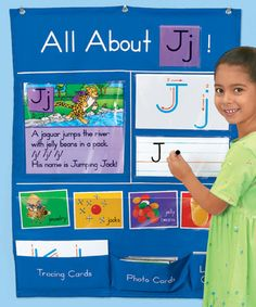 All About Letters Pocket Chart at Lakeshore Learning