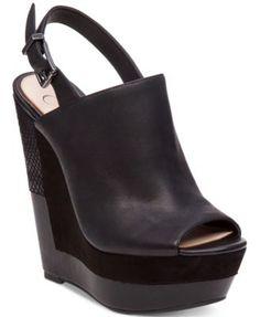 Jessica Simpson Radina Slingback Platform Wedge Sandals | macys.com