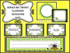 Bumble Bee Classroom Decoration Pack- $55 www.etsy.com/shop/lollylanddesigns