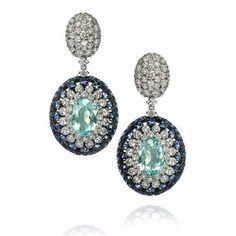 Perfeicao nos brincos de Turmalina Paraiba com Safiras e Diamantes! #turmalinaparaiba #chic #intotheblue #mares #amsterdamsauer
