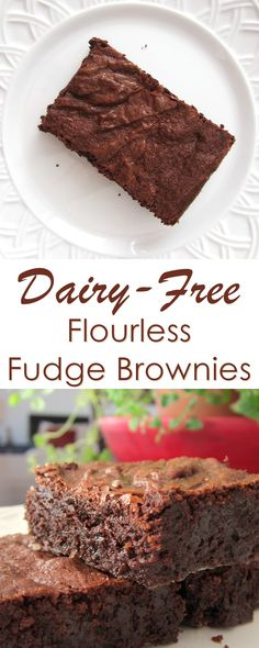 Dairy-Free Flourless Fudge Brownies Recipe - naturally gluten-free brownies