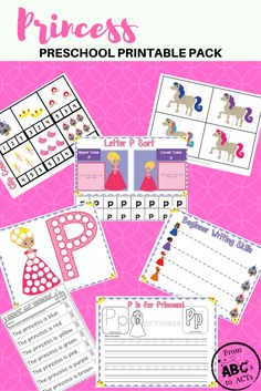 Princess Printable Preschool Education Pack (From ABC s to ACT s) 8c2e907a686b