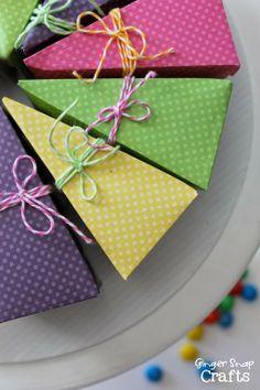Dessert Box Party Favors {tutorial}
