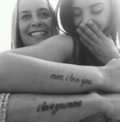 Mother daughter tattoo except I would do Henna instead.