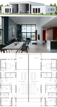 Architecture: House Plans & Blueprints Duplex House Plan Architecture: House Plans, Blueprints, and Dream House Plans, Modern House Plans, Small House Plans, Duplex Floor Plans, House Floor Plans, Custom Home Plans, Home Design Plans, House Plans With Pictures, Casa Loft