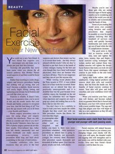 Facial Exercise - Your New Best Friend featured in New You – Inside & Out #facialexercise #facialmagic