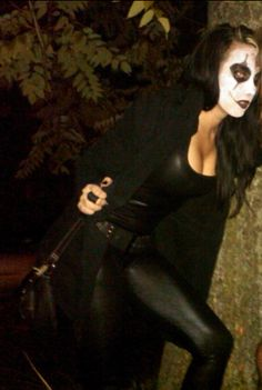 """My female """"The Crow"""" costume for Halloween"""