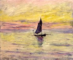 bofransson:    Claude Monet, The Sailing Boat, Evening Effect, 1885,