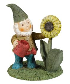 Loving this Sunflower Mini Gnome Figurine on #zulily! #zulilyfinds