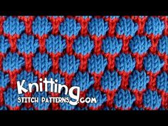 Knitting Stitch Patterns and video tutorials: Blister Check aka Coin Stitch or Tuck Stitch || http://www.knittingstitchpatterns.com/2015/03/blister-check.html?m=1
