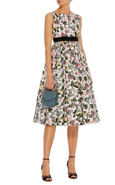 Printed Svasso Maggiore Garden Poplin Dress by VIVETTA Now Available on Moda Operandi