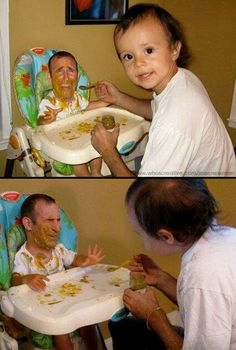 Manbabies are funny internet memes where one takes an image of a man and a baby and swaps their heads. Really Funny Memes, Stupid Funny Memes, Wtf Funny, Funny Relatable Memes, Funny Cute, Funny Posts, Hilarious, Funny Stuff, Funny Face Swap