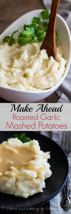 Make a big batch of homemade light and fluffy mashed potatoes and freeze it for later. No grainy, glue-y warmed-up mess here. Check out my tips for perfect make-ahead roasted garlic mashed potatoes!
