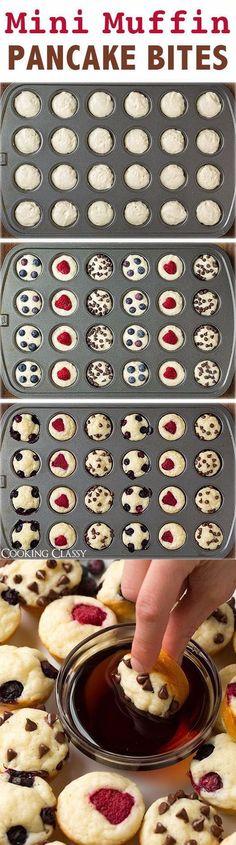 Mini Muffin Pancake Bites food baking recipe food ideas recipes pancakes easy recipes breakfast recipes kids recipes food tutorials food hacks