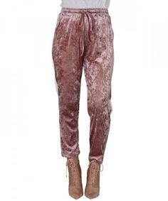 Γυναικεία Velvet φόρμα Coocu ροζ με ρίγα 41658W #παντελονιαγυναικεια #women #womensfashion #womenswear Parachute Pants, Velvet, Fashion, Moda, Fasion, Fashion Illustrations, Fashion Models