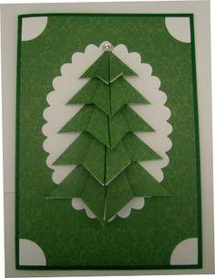 Nachteulen-Designs: Gefaltete Weihnachtsbaum-Karte Tutorial