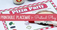 Pizza Restaurant Printable Placemat