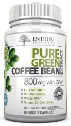 100% Pure Green Coffee Bean Extract 800mg WITH GCA�. Double Strength (50% Chlorogenic Acid & Antioxidants). Safe Supplement That is Key to Natural Weight Loss / Management & Diet. Top Fat Burning Supplement for Men & Women with Premium Quality Ingredients.