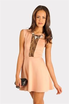 Bianca Lace Dress - Pink