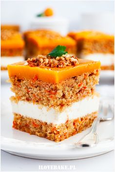 Ciasto marchewkowe Cake Recipes, Snack Recipes, Dessert Recipes, Snacks, Polish Cake Recipe, Something Sweet, Carrot Cake, Delish, Sweet Tooth