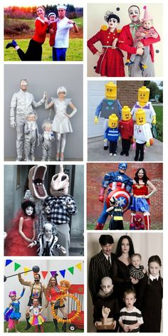 76 FAMILY COSTUME IDEAS FOR HALLOWEEN. People are so creative! I love these! Have I told you how much I love Halloween ? It has to be the most fun holiday there is, especially when you dress up as a family .