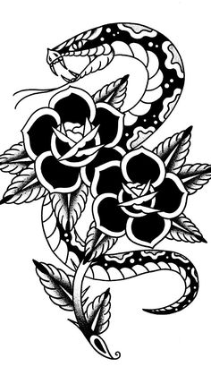 Traditional Snake Tattoo, Traditional Tattoo Old School, Traditional Tattoo Flash, Black Tattoos, Body Art Tattoos, Sleeve Tattoos, Tattoo Sketches, Tattoo Drawings, Desenhos Old School