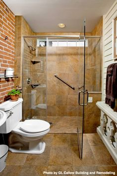 at first glance we thought it was an outdoor shower after all who has ever thought of installing vinyl and brick siding in the bathroom - Bathroom Remodel Return On Investment