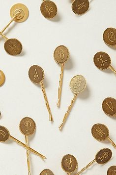 monogram bobby pins | anthropologie