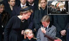 European royals among the mourners at Queen Fabiola's funeral