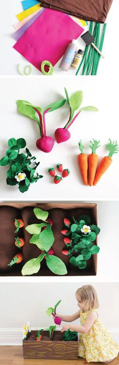 Summer is in full swing. Celebrate everything from the warm weather to the fresh flowers with this craft activity for DIY Felt Garden Box.