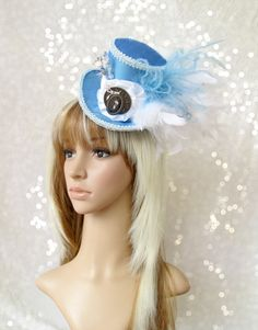 Alice's Mini Top Hat Mad hatter Hat Alice in by ChikiBird on Etsy