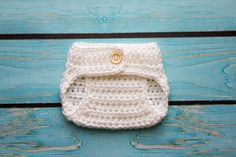 Crochet white diaper cover photo prop for baby by Stephyscrochet, $15.00