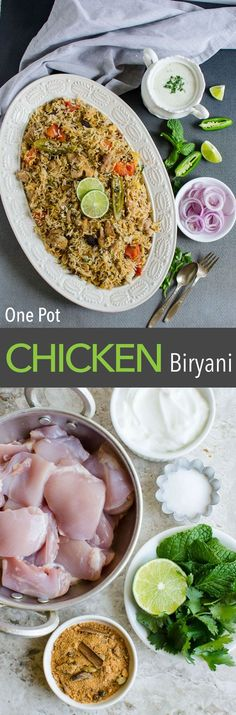 This one pot easy chicken biryani is full of traditional flavors & easiest to prepare. If you like Indian flavors, then you will love this delicacy #healthy