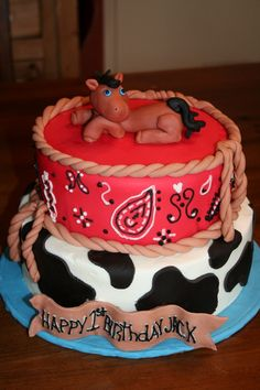 Victoria's Next party. western cake