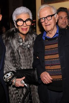 Iris Apfel and Carl Apfel attend Bergdorf Goodman's 111th anniversary celebration at the Plaza Hotel on October 18, 2012 in New York City.…