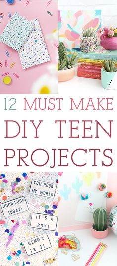 12 Must Make DIY Teen Projects! // Great for Gifts