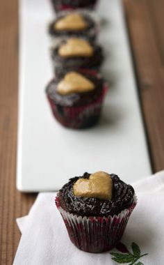 Woo your valentine with double-chocolate peanut butter cupcakes.