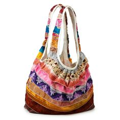 Handmade by fair trade artisans in India, this upcycled bag gives secondhand saris a fresh start. It also makes a great gift for the green fashionista.