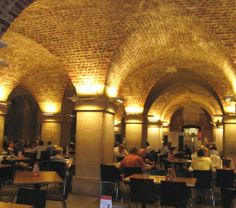 Cafe in the Crypt. St.-Martin-in-the-Field, London - Another amazing underground cafe - Right beneath the church. It was obviously no secret as it was packed. Lucky to get a table.
