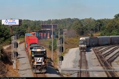 RailPictures.Net Photo: NS 8764 Norfolk Southern GE C40-8 (Dash 8-40C) at Austell, Georgia by Kyle Yunker