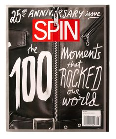 SPIN's 25th Anniversary Cover Zips Up