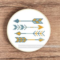Scandinavian Summer arrows - Counted cross stitch pattern PDF - Tribal